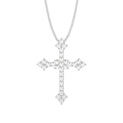 4 Prong Setting Cross Pendant