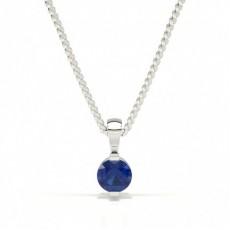 Bar Setting Classic Blue Sapphire Pendant