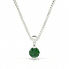 Bar Setting Classic Emerald Pendant