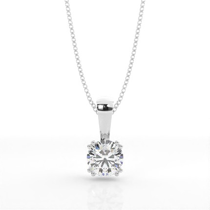 Prong Setting Classic Solitaire Pendant