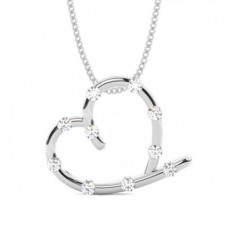 Bar Setting Heart Pendant