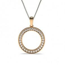 Round Rose Gold Circle Pendants