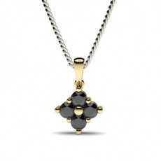 Yellow Gold Black Diamond Pendants