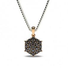 Rose Gold Black Diamond Pendants