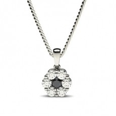 Pressure Setting Black Diamond Cluster Pendant