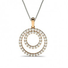 Rose Gold Circle Pendants