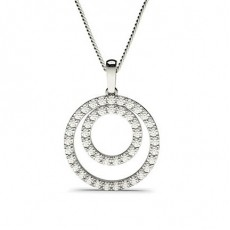 Prong Setting Circle Pendant