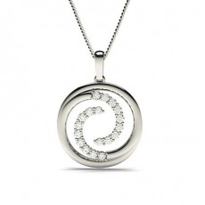 Circle Diamond Pendants
