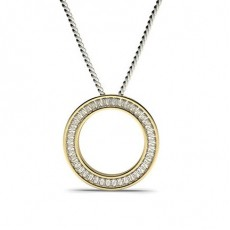 Channel Setting Circle Pendant