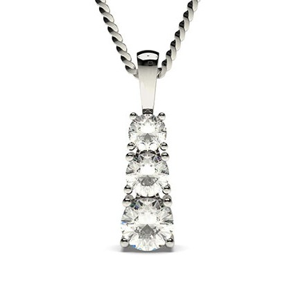 Buy 4 prong setting round diamond journey pendant online diamonds 4 prong setting round diamond journey pendant aloadofball Images