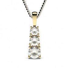 4 Prong Setting Round Diamond Journey Pendant
