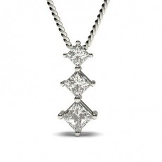 Princess Diamond Pendants