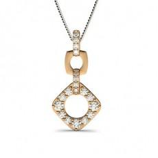 Rose Gold Drop Pendants