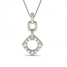 Drop Diamond Pendants