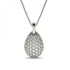 Round White Gold Designer Pendants