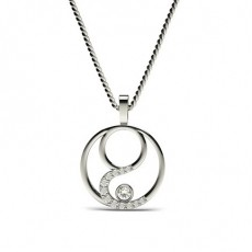 Full Bezel Setting Diamond Pendants