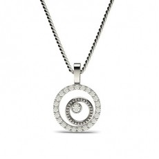 0.20ct. Full Bezel & Prong Setting Round Diamond Delicate Pendant