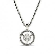 Round Silver Delicate Pendants