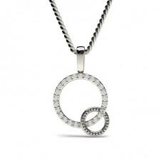 0.15ct. Runder Petite Diamantanhänger in einer Krappenfassung