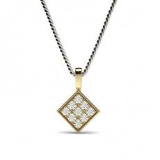 030ct Pave Setting Round Diamond Delicate Pendant