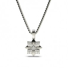 0.10ct. 4 Prong & Pave Setting Round Diamond Delicate Pendant