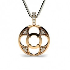 Round Rose Gold Delicate Pendants