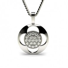 0.25ct. Pave Setting Round Diamond Delicate Pendant