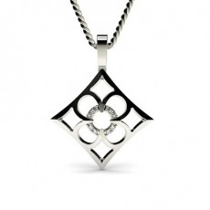 0.05ct. Pave Setting Round Diamond Delicate Pendant