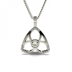 0.35ct. Full Bezel & 4 Prong Setting Round Diamond Delicate Pendant