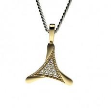 0.10ct. Pave Setting Round Diamond Delicate Pendant