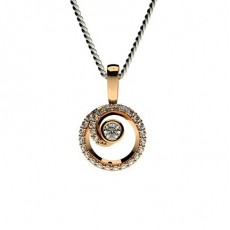 Round Rose Gold Delicate Pendants