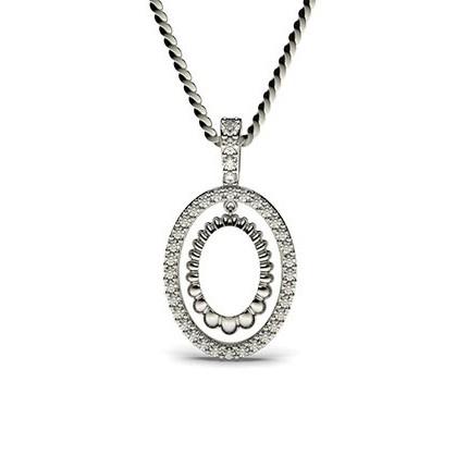 0.15ct. Prong Setting Round Diamond Delicate Pendant