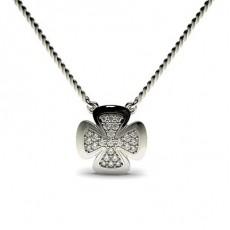 0.15ct. Pave Setting Round Diamond Delicate Pendant