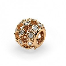 Full Bezel Set Round Diamond Charms