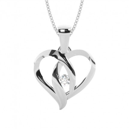 Buy full bezel setting round diamond heart pendant online uk full bezel setting round diamond round pendant mozeypictures Image collections