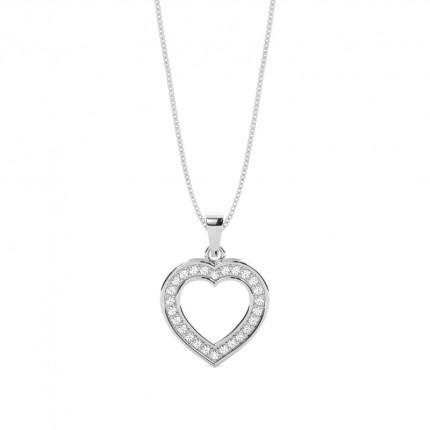 Buy pave setting round diamond heart pendant online uk diamonds pave setting round diamond round pendant aloadofball Choice Image