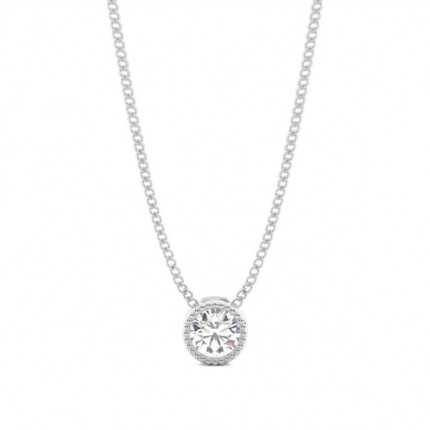 Pave Setting Round Diamond Cross Pendant