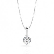 3 Prong Setting Solitaire Pendant