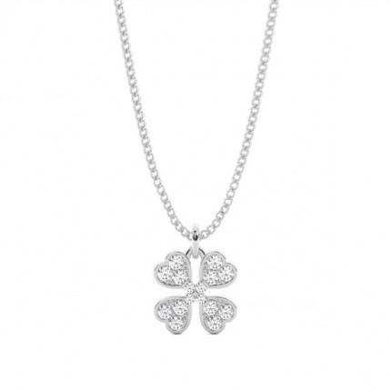 2 Prong Setting Round Diamond Delicate Pendant