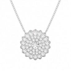 Pendentif cœur diamant rond serti 4 griffes 0.07ct