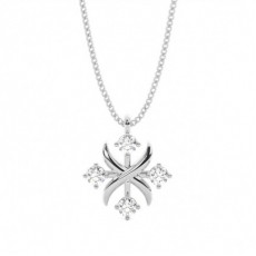 4 Prong Setting Round Diamond Designer Pendant