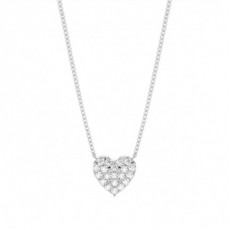 4 Prong Setting Round Diamond Heart Pendant