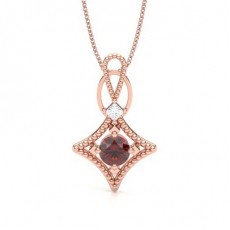 Princess Rose Gold Gemstone Pendants