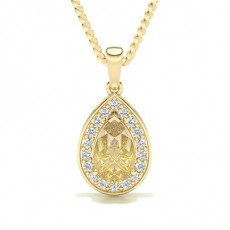 Yellow Gold Yellow Diamond Pendants