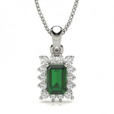 Emerald Platinum Pendants