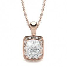 Rose Gold Diamond Pendants