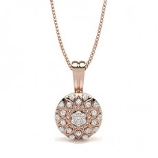 Round Rose Gold Cluster Pendants