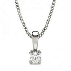 Cushion Platinum Solitaire Pendants