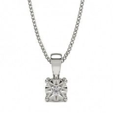 Prong Setting Solitaire Pendant