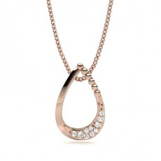 Round Rose Gold Designer Pendants